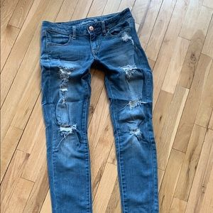 AEO jeans. Destroyed.